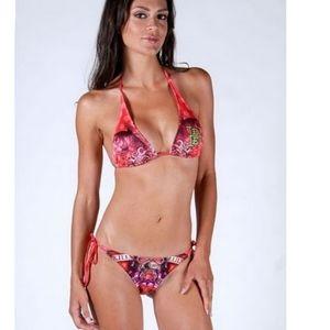Ed Hardy Love Kills Slowly bikini swimsuit M S